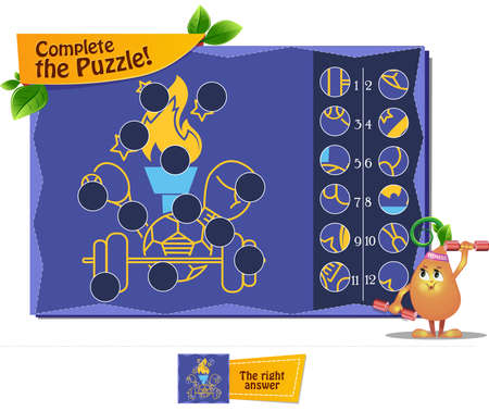 educational game for children and adults to develop attention. Task game complete the puzzle.