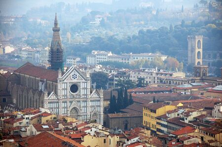 unnatural: Basilica Santa Croce. Florence, Italy Stock Photo
