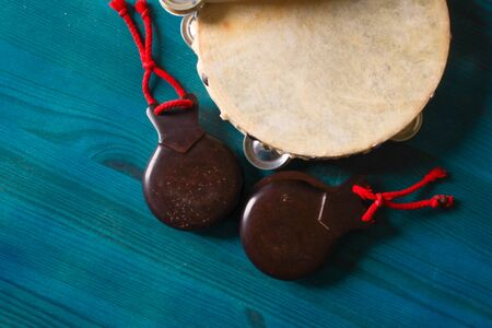 Vintage image of folk instruments