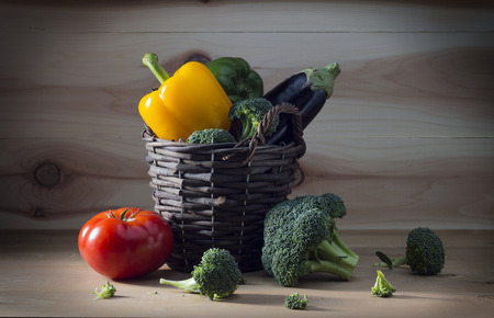 broccoli, tomatoes and sweet pepper Фото со стока
