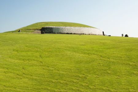 Newgrange is a prehistoric monument in Ireland, It was built about 3200 BC during the Neolithic period, which makes it older than Stonehenge and the Egyptian pyramids