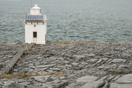 Blackhead lighthouse is a beautiful lighthouse located right on the coast, in the burren, Co  Clare  photo