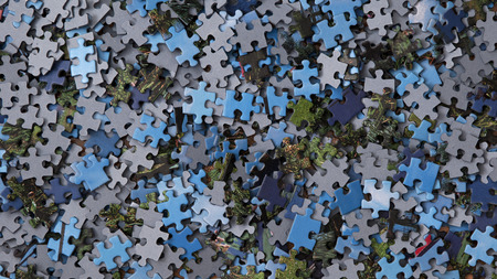 brainteaser: puzzle pieces Stock Photo