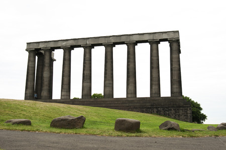 The National Monument of Scotland, on Calton Hill in Edinburgh, is Scotlands national memorial to the Scottish soldiers and sailors who died fighting in the Napoleonic Wars. photo