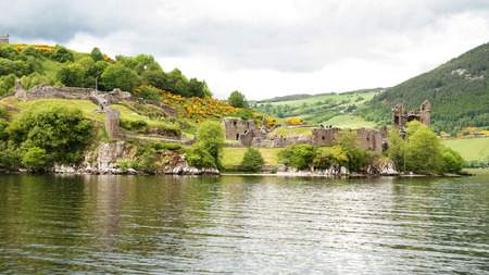 ness: Urquhart Castle sits beside Loch Ness in the Highlands of Scotland.The present ruins date from the 13th to the 16th centuries, though built on the site of an early medieval fortification. Founded in the 13th century, Urquhart played a role in the Wars of