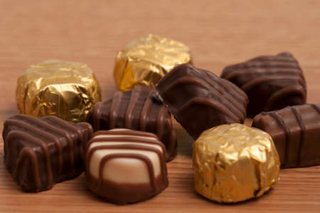 Small selection of chocolate on the table