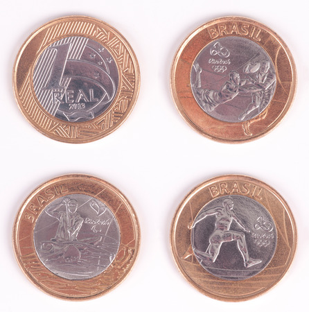 athleticism: Olympiad Coin  Brazilian Olympic Coin  Rugby, Athleticism and Paralympic Canoeing