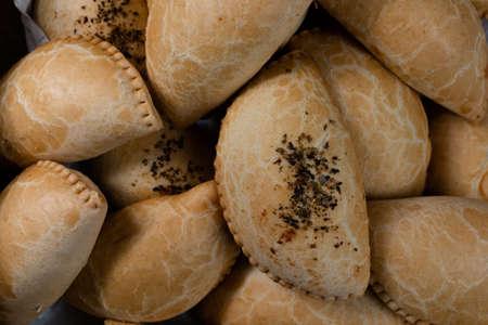Baked and stuffed bread. Brazilian snack.