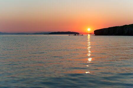 Russky island, Japan sea at colorful sunset Stock Photo - 15016083