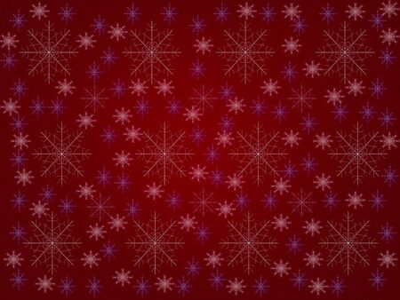 abstract red background with snowflakes Stock Photo - 16811542