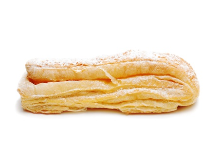 fresh puff pastry roll isolated on the white background  Stock Photo - 16988840