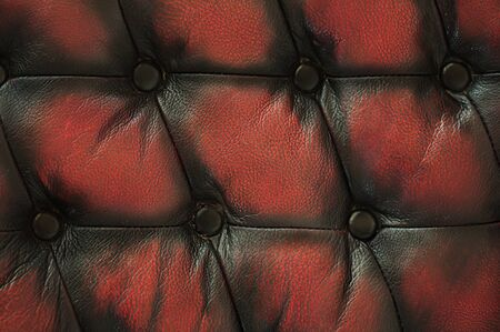 сlose up old red black luxury buttoned leather background
