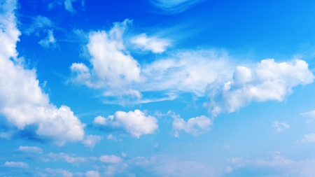 blue sky and beautiful clouds  photo