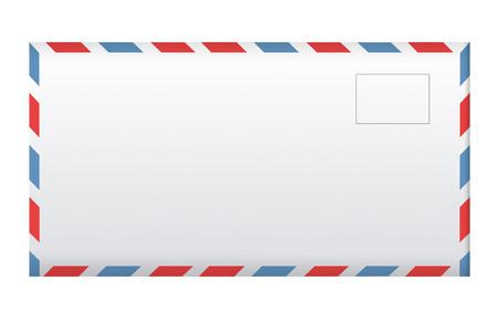 Post envelope isolated on white background.