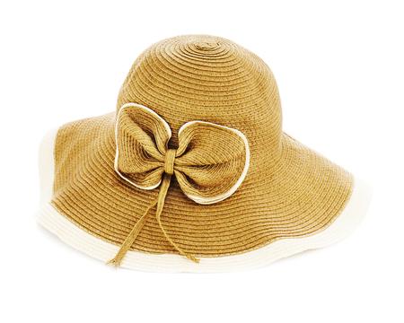 Beautiful summer hat isolated on white background.
