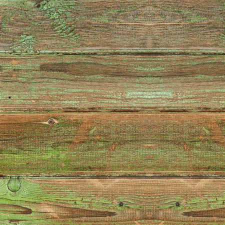 greeen: Old greeen wood plank background. Closeup.