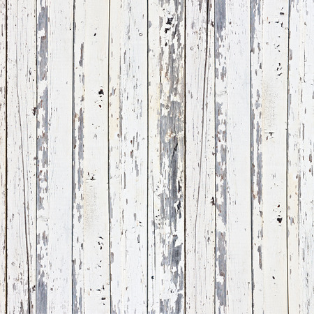 Old white wood plank background. Closeup. Banco de Imagens
