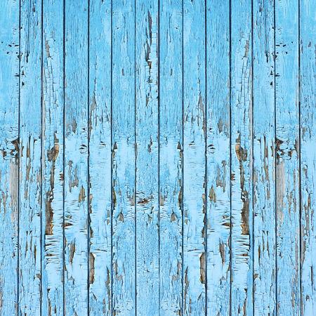 Old blue wood plank background. Closeup. photo