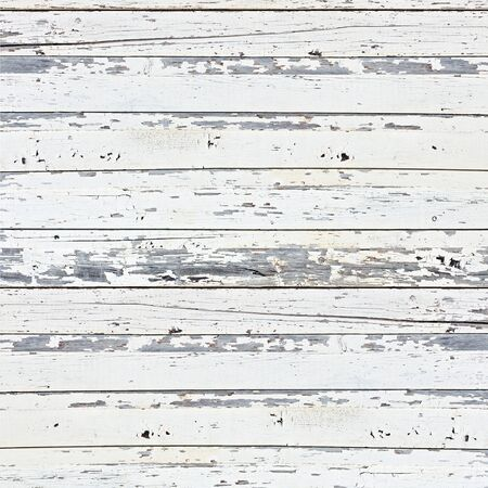 Old white wood plank background. Closeup. photo