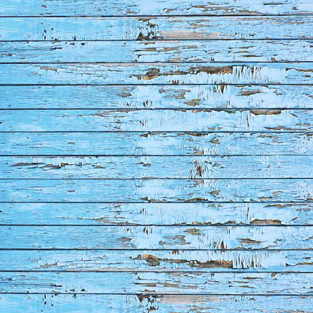 Old blue wood plank background. Closeup. photo