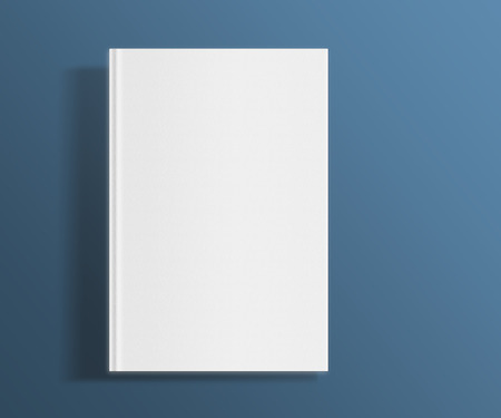 blank book: Blank book cover template on trendy flat background with shadows