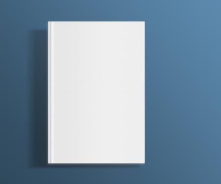 hoja en blanco: Plantilla de la portada del libro blanco sobre fondo plana de moda con sombras