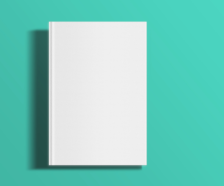 blank magazine: Blank book cover template on trendy flat background with shadows
