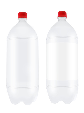 liter: Empty two liter plastic bottles isolated on white background
