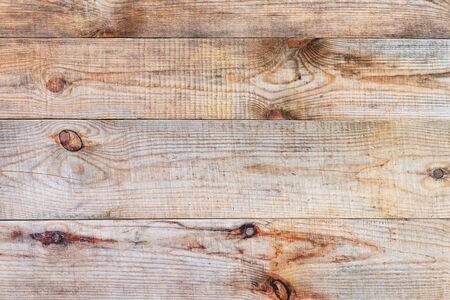 old desk: Old natural wooden plank grain background with pattern grunge texture. Striped timber desk or table or floor. Closeup. Stock Photo
