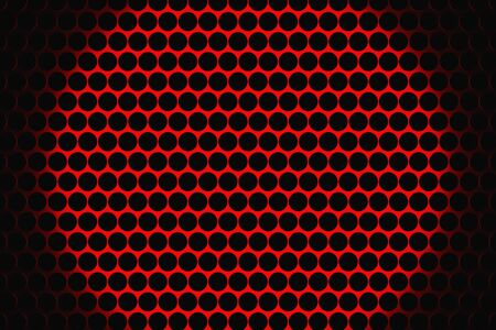 speaker grill: Metal speaker grill texture for using as background. Highly detailed render. Stock Photo
