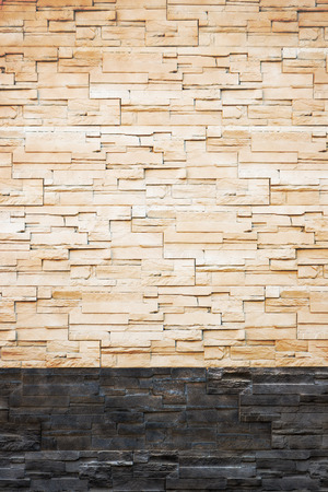 lite: Pattern from lite brown decorative slate stone wall surface. For use as background. Stock Photo