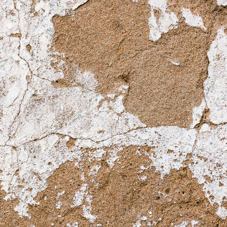 hause: Old, grungy white background of natural plaster wall surface for texture or backgrounds. White hause wall with cracks.