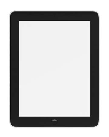 blank tablet: Realistic tablet pc computer with blank screen isolated on white background.