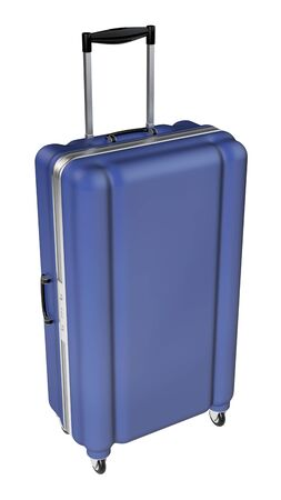 large family: Large family polycarbonate luggage isolated on white background. 3D rendering.