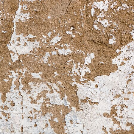 hause: Natural plaster wall surface for texture or backgrounds. White hause wall with cracks. Stock Photo