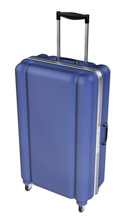 polycarbonate: Large family polycarbonate luggage isolated on white background. 3D rendering.