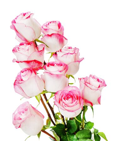 Colorful flower bouquet from roses isolated on white background.