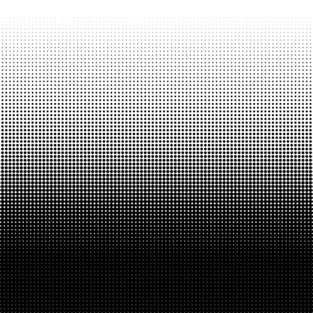 Halftone dots pattern. Design element for posters, banners, cards and wallpapers. Black dots on white background. Vector illustration. Vectores