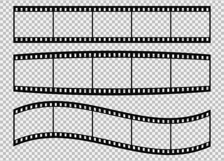 Five frames of classical 35 mm film strip. Vector illustration.