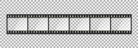 Six frames of classical 35 mm film strip. Vector illustration. Illustration