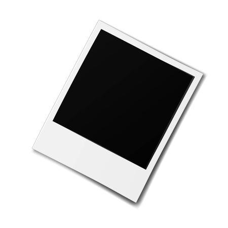 Vecchia cornice per foto realistica isolata su priorità bassa bianca.