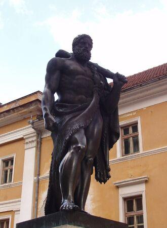 baile: Statue of Hercules, in Baile Herculane,Ro Stock Photo