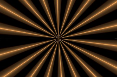 orange and brown design on a black background Stock Photo