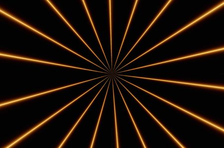 Black background of orange and brown lines Stock Photo