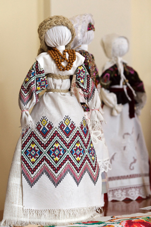 Handmade textile doll ancient culture folk crafts tradition of Ukraine. Most Popular Souvenirs From Ukraine.