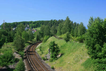 tog: Railway line Stock Photo