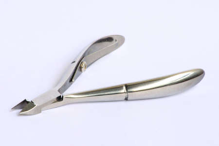 nail scissors: Nail scissors, on white background