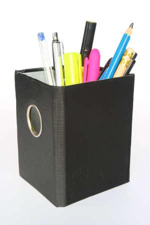 pen holder: Black pen holder