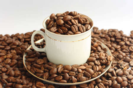 coffe beans: Cuffe cup and coffe beans