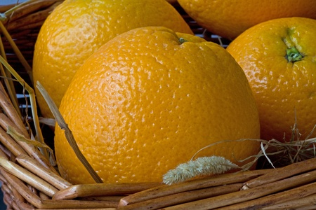 Oranges in a basket Stock Photo - 10538806